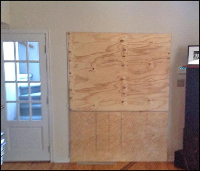 Board-Up After a Home Was Vandalized After