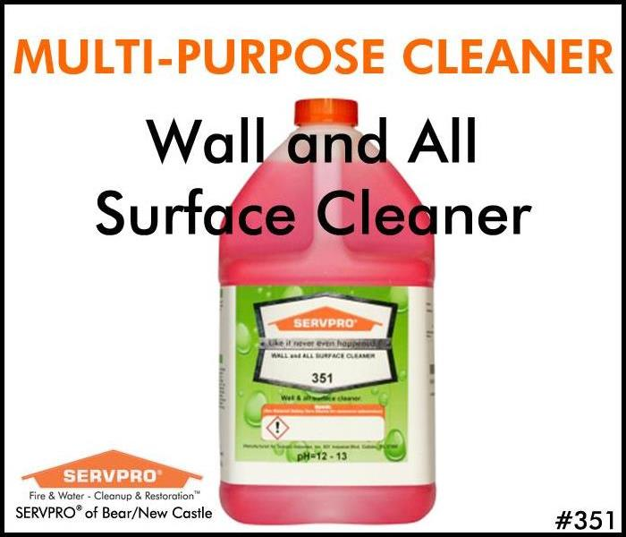 SERVPRO's Professional Cleaning Products:  Wall and All Surface Cleaner