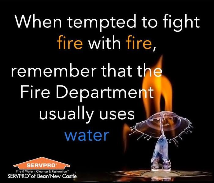 drop of water on a flame with a black background with text of the quote.