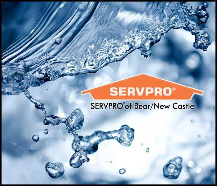 A splash of water with the SERPRO of Bear/New Castle logo